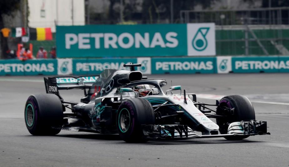 Hamilton a terminé en 4e place lors du... (Photo HENRY ROMERO, REUTERS)