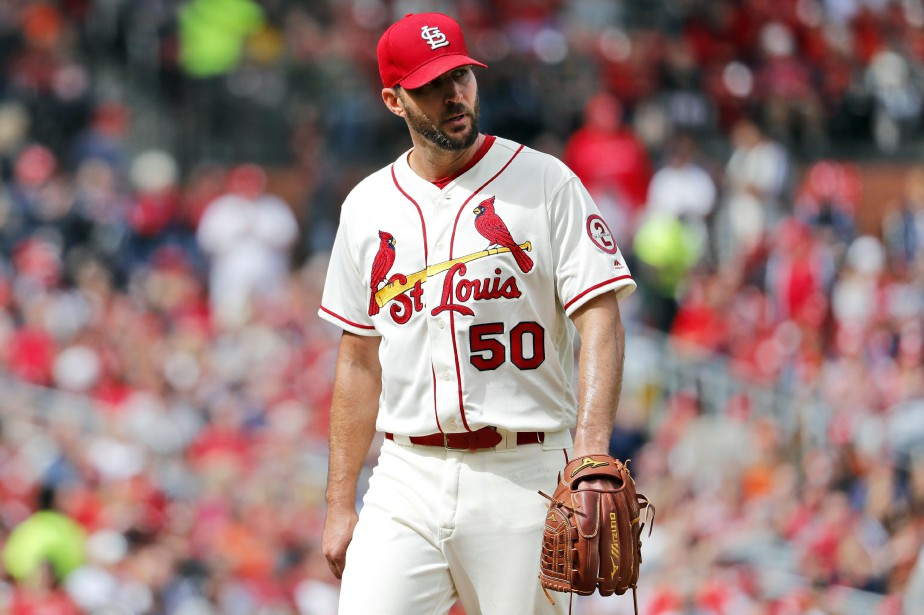 Adam Wainwright vient au cinquième rang de l'histoire... (Photo Jeff Roberson, Associated Press)