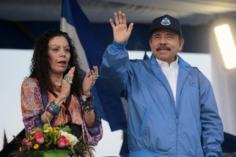 L'opposition réclame le départ du président nicaraguayen, Daniel... (Photo INTI OCON, AFP)