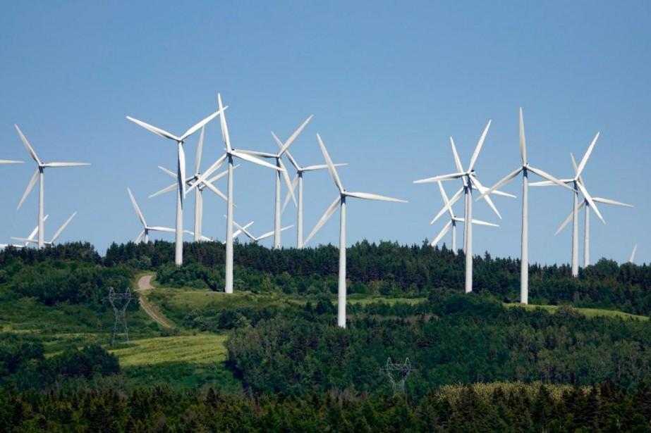 Le projet du parc éolien Apuiat prévoit l'aménagement... (Photo Bernard Brault, Archives La Presse)