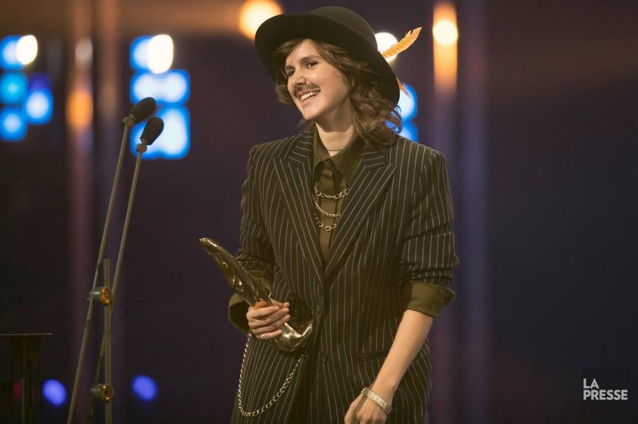 Klô Pelgag a remporté le trophée de l'interprète... (Photo Olivier Jean, La Presse)