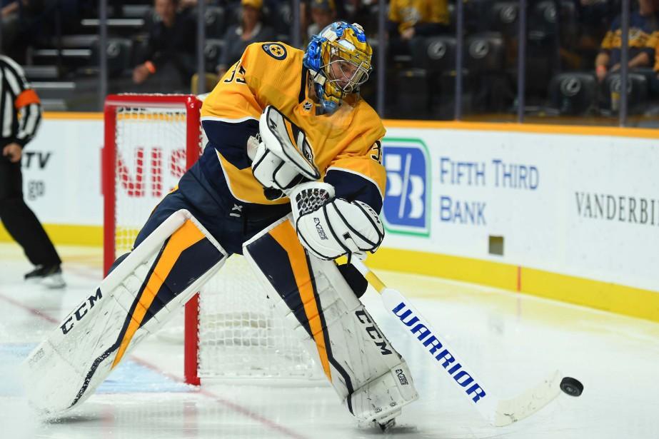Pekka Rinne... (Photo Christopher Hanewinckel, USA TODAY Sports)