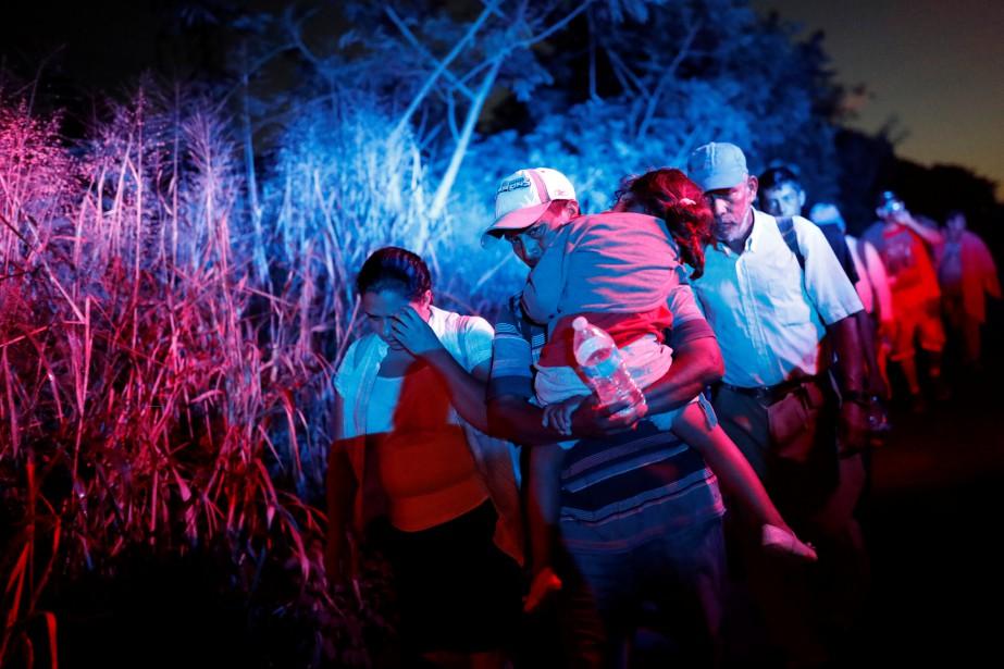«En ce qui concerne la caravane, notre armée... (Photo CARLOS GARCIA RAWLINS, REUTERS)
