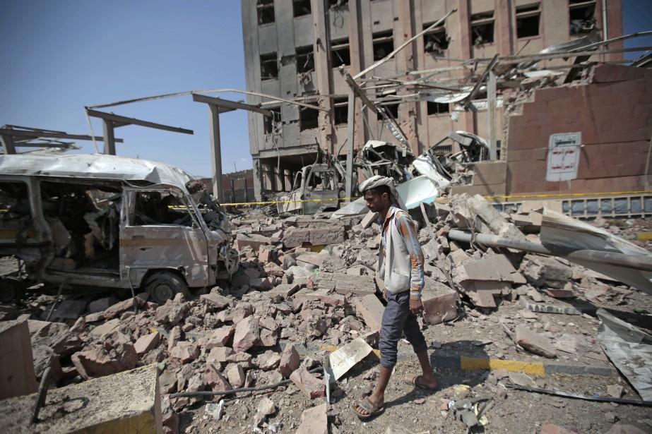 La coalition antirebelles intervient depuis 2015 au Yémen... (Photo Hani Mohammed, archives Associated Press)