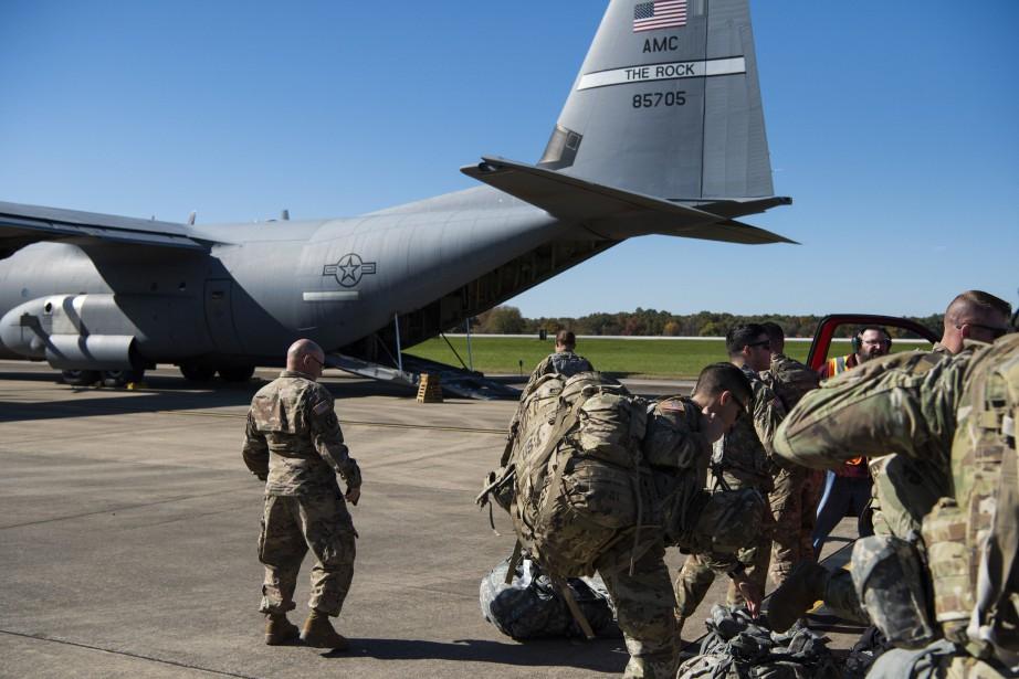 Mercredi, DonaldTrump a annoncé que jusqu'à 15000soldats pourraient... (Photo Zoe Wockenfuss, US Air Force/AP)