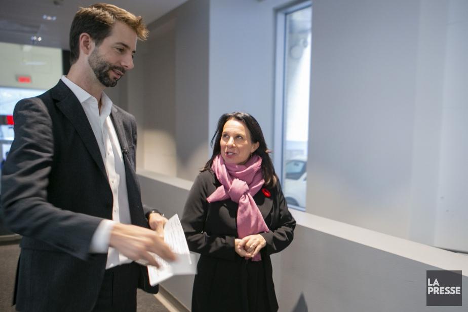 Notre éditorialiste s'est entretenu avec la mairesse dans... (PHOTO DAVID BOILY, LA PRESSE)