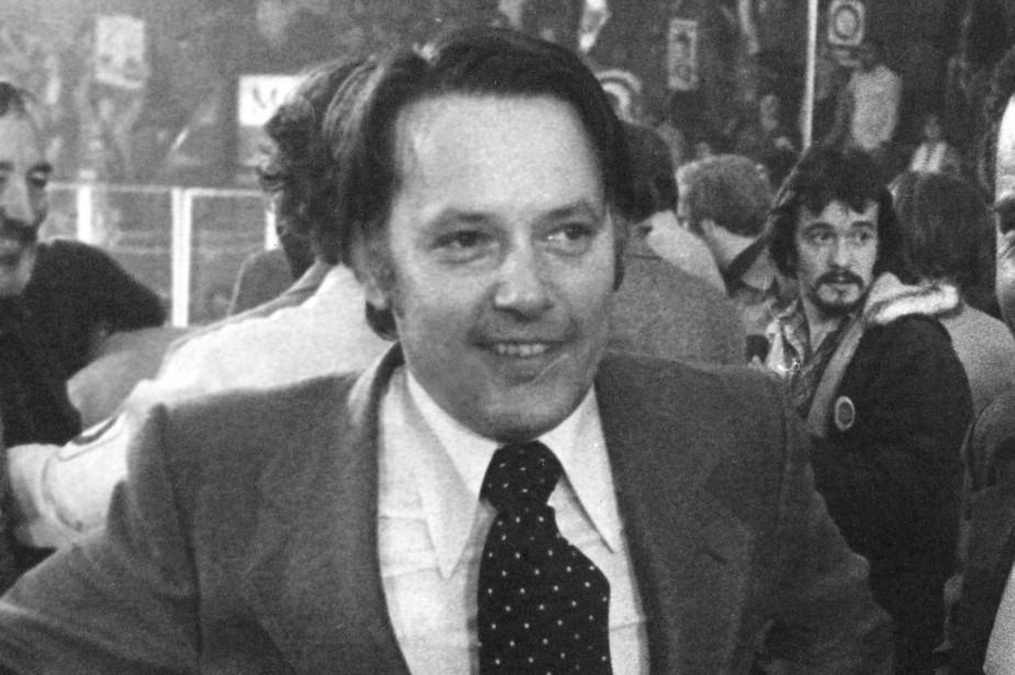 Bernard Landry lors de l'élection du Parti québécois,... (Photo Pierre McCann, archives La Presse)