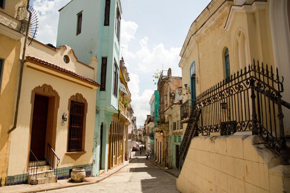 Une rue dans la vieille Havane... (Photo Martin Chamberland, archives La Presse)