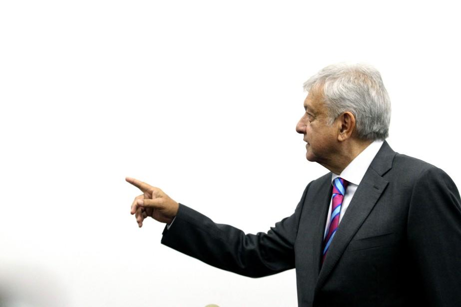 Le président mexicain élu Andres Manuel Lopez Obrador... (Photo ULISES RUIZ, archives AFP)