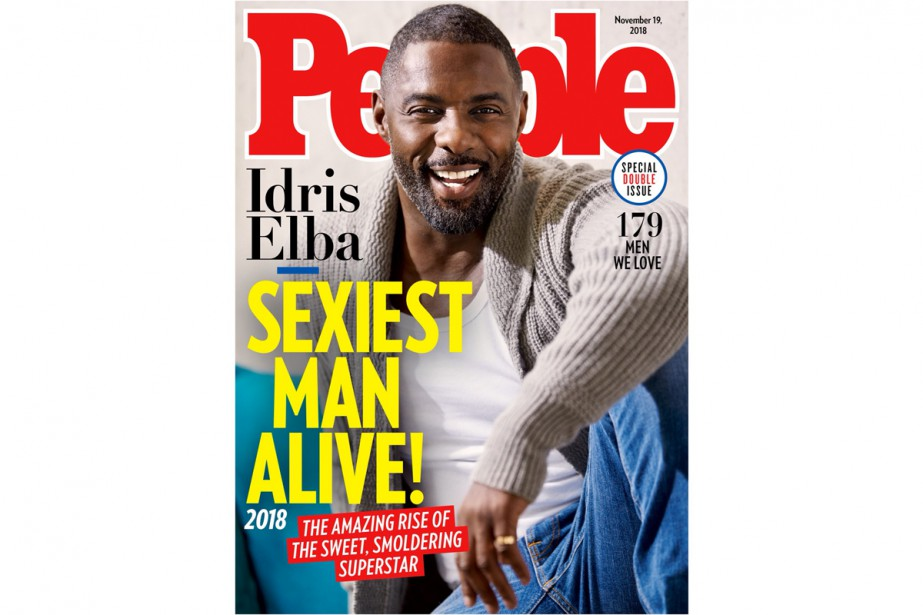 Idris Elba sur la couverture du magazinePeople... (IMAGE TIRÉE DU COMPTE TWITTER D'IDRIS ELBA)