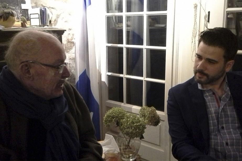 Bernard Landry et Jean-François Payette, à Verchères, le...