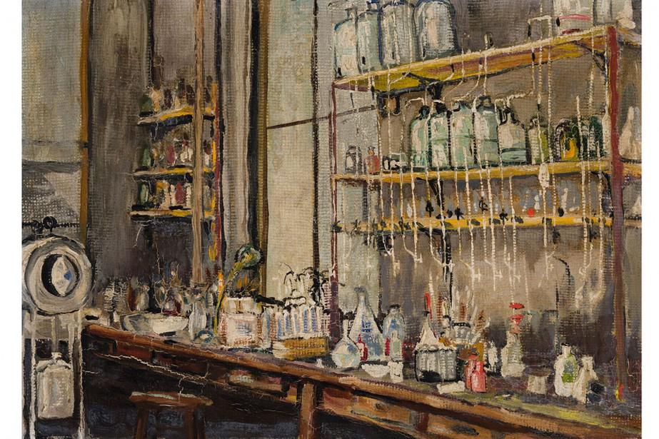 The Lab, 1925, Sir Frederick Grant Banting, huile... (Photo fournie par la Maison Heffel)