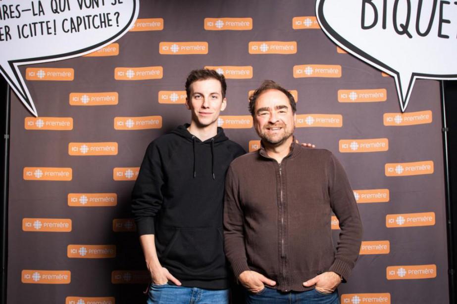 Pier-Luc Funk et Michel Rabagliati... (Photo Lawrence Arcouette, fournie par Radio-Canada)