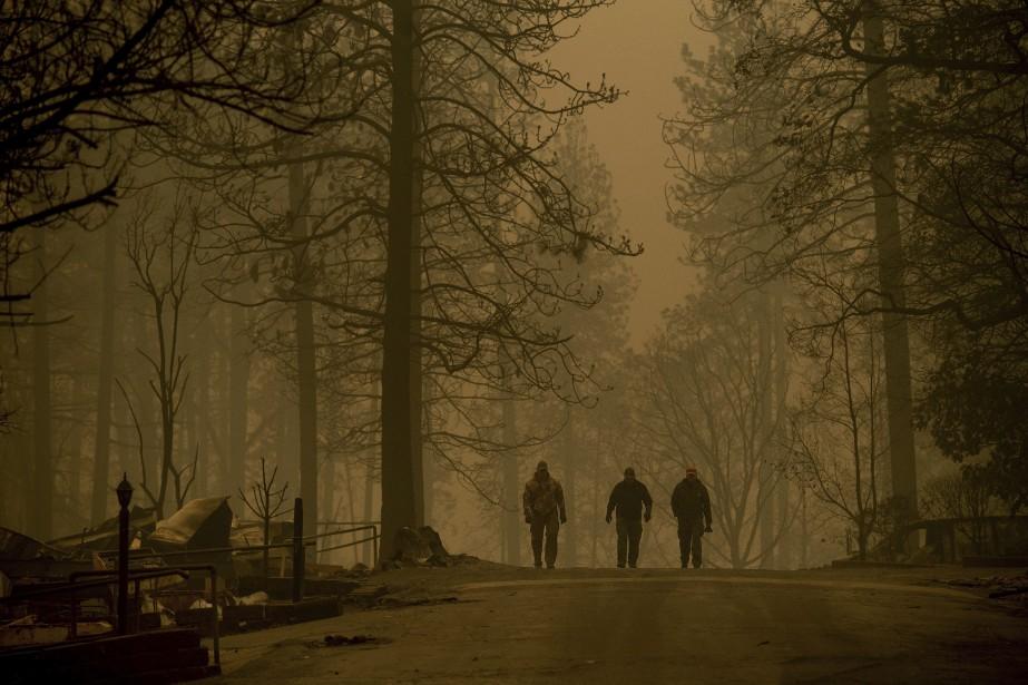 Avant cette découverte, le bilan des incendies qui... (Photo Noah Berger, AP)