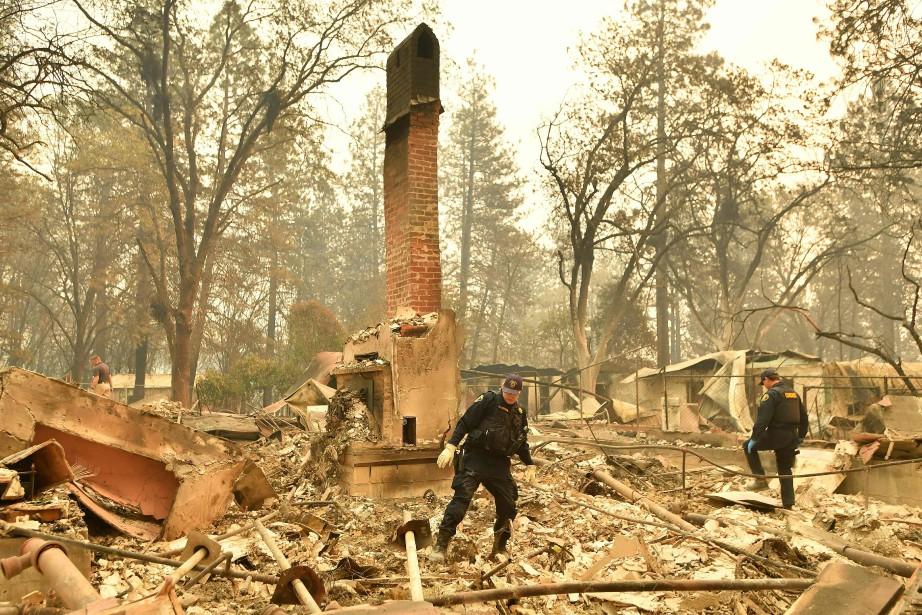 La ville de Paradise a été littéralement rayée... (PHOTO AFP)