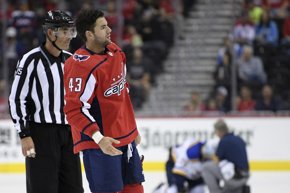 L'attaquant des Capitals de Washington Tom Wilson avait... (Photo Nick Wass, Associated Press)