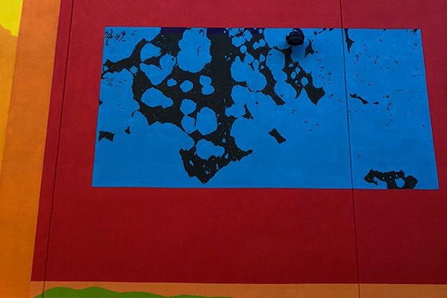 Détail de la murale  Le monde intérieur qui orne l'une des façades du Centre interculturel Strathearn à Montréal.  | 15 novembre 2018