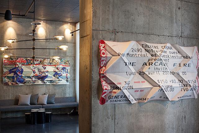 Collection d'oeuvres origami faisant partie d'une installation à l'hôtel Alt d'Ottawa (Jason Cantoro)