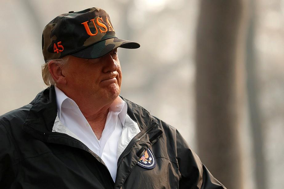 Donald Trump a visité les parcs de maisons... (Photo LEAH MILLIS, REUTERS)