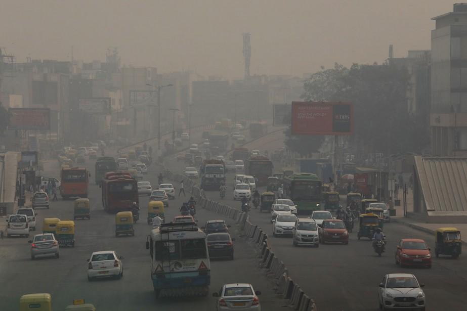 La pollution de l'air dans la capitale indienne... (Photo ANUSHREE FADNAVIS, archives REUTERS)