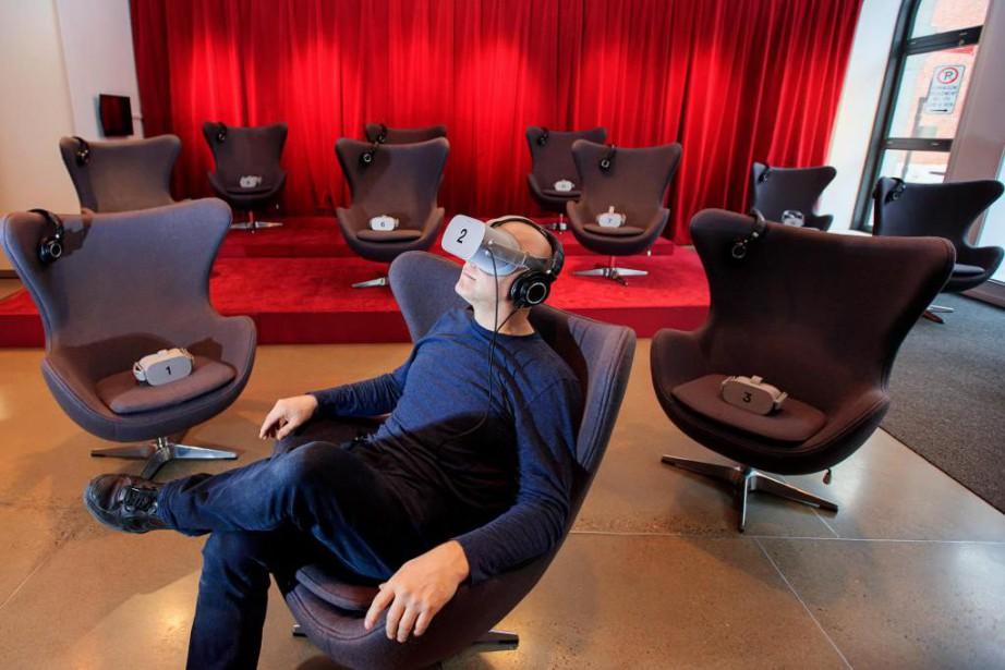 La nouvelle salle de cinéma de réalité virtuelle... (PHOTO ALAIN ROBERGE, LA PRESSE)