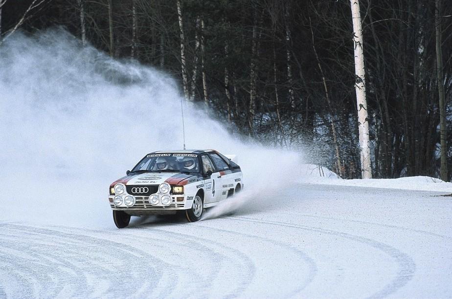 Audi a révolutionné les courses de rallye avec l'UR-quattro, qu'on voit ici en 1981. (Photo Audi)