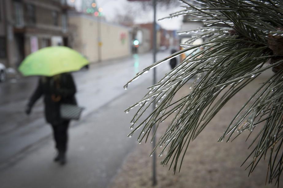«Les quantités de pluie verglaçante seront de 2... (Photo PatrickSanfaçon, La Presse)