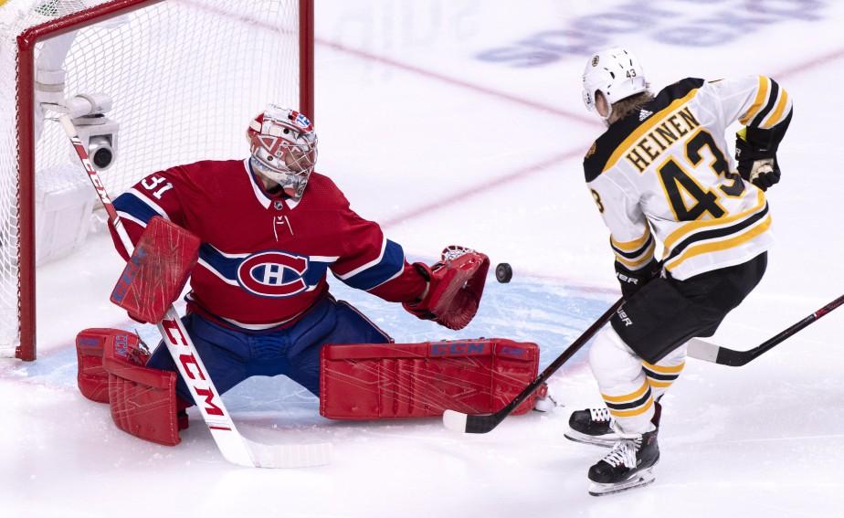 Carey Price et Chris Heinen.... (Photo Paul Chiasson, La Presse canadienne)