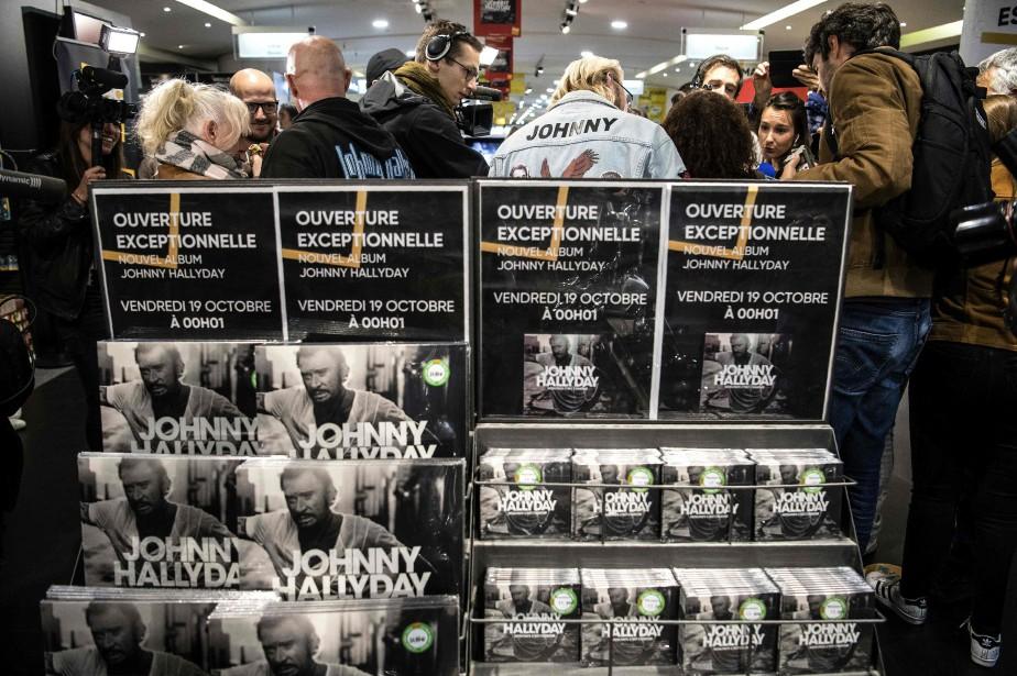 L'album posthume de Johnny Hallyday, Mon pays c'est... (Photo CHRISTOPHE ARCHAMBAULT, archives AFP)