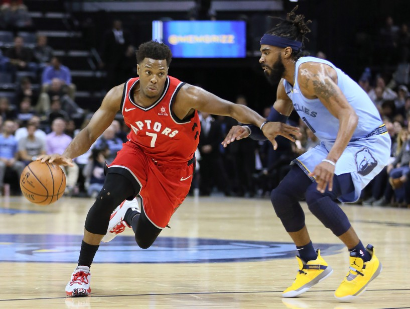 Kyle Lowry (7) a inscrit 24 points et... (Photo Nelson Chenault, USA TODAY Sports)