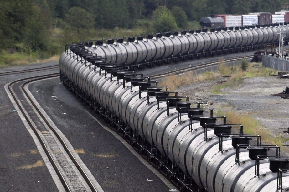 Selon les médias canadiens, c'est environ 1000wagons que... (Photo Elaine Thompson, archives ASSOCIATED PRESS)