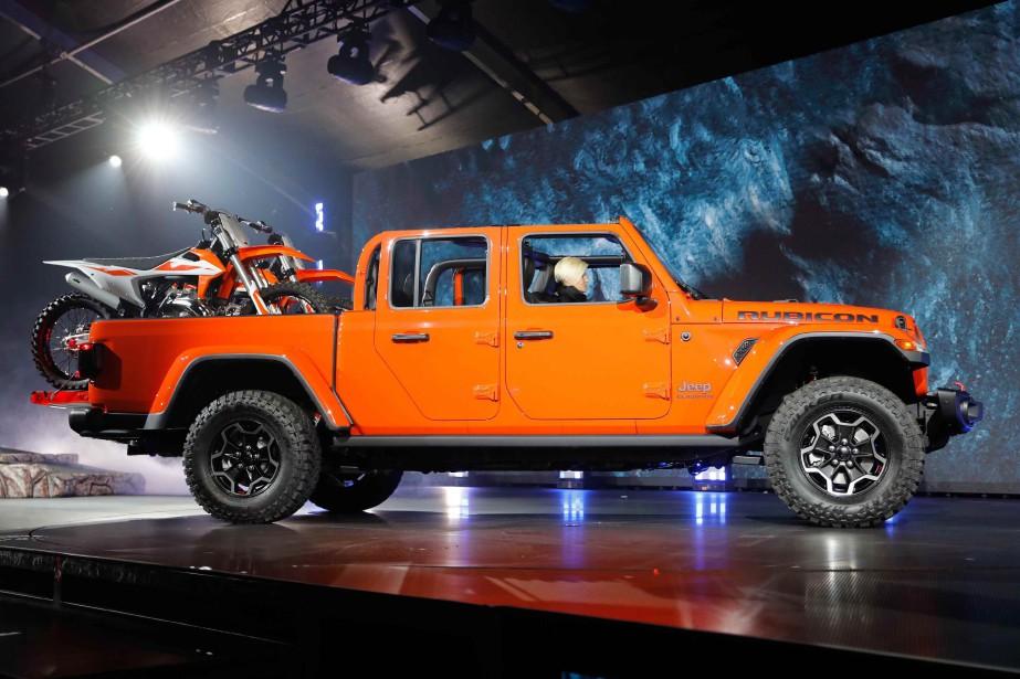 Le Jeep Gladiator Rubicon 2020 au Salon de l'auto de Los Angeles. (photo REUTERS)