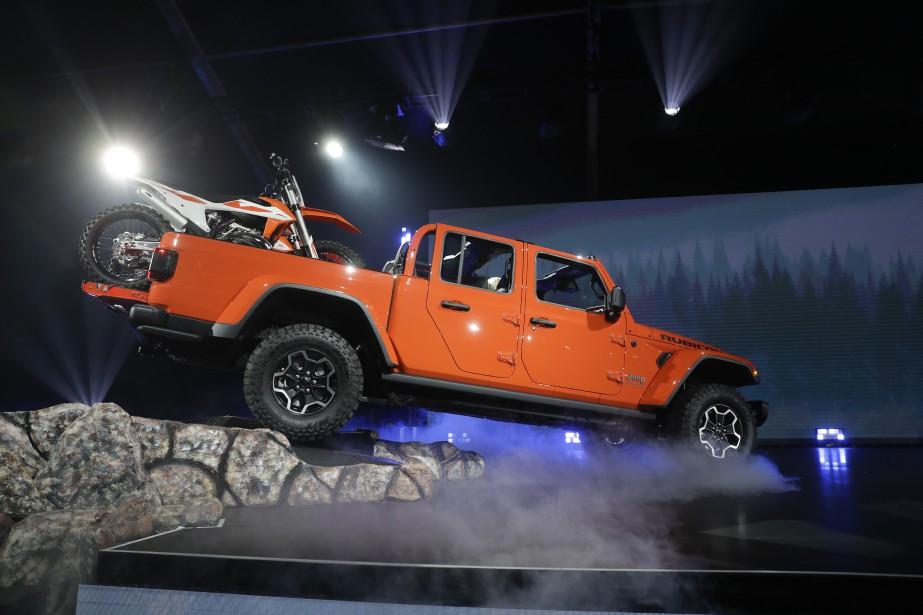 Le Jeep Gladiator Rubicon 2020 au Salon de l'auto de Los Angeles. (AP)