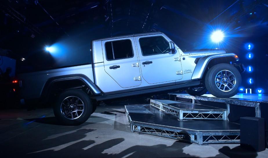Le Jeep Gladiator 2020 au Salon de l'auto de Los Angeles. (AFP)