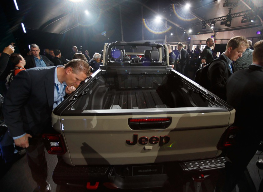 Le Jeep Gladiator 2020 au Salon de l'auto de Los Angeles. (REUTERS)