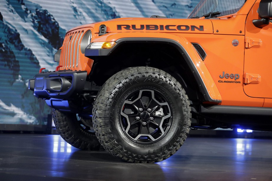 Le Jeep Gladiator Rubicon 2020 au Salon de l'auto de Los Angeles. (AP)