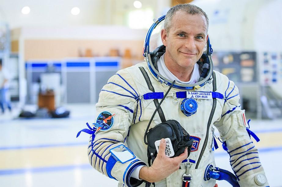L'astronaute David Saint-Jacques.... (Photo Édouard Plante-Fréchette)