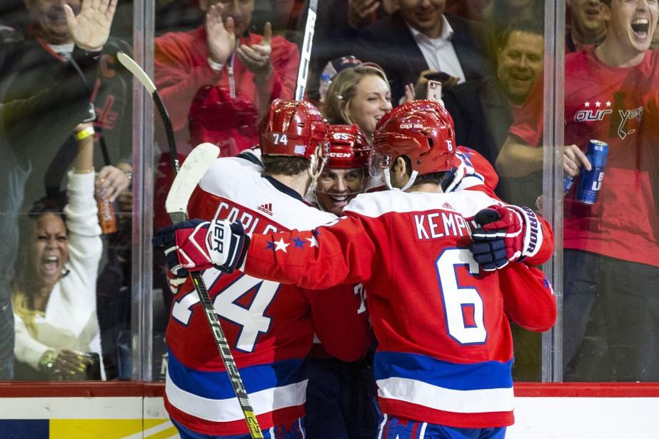 les Capitals de Washington ont vaincu les Devils... (Photo Al Drago, AP)