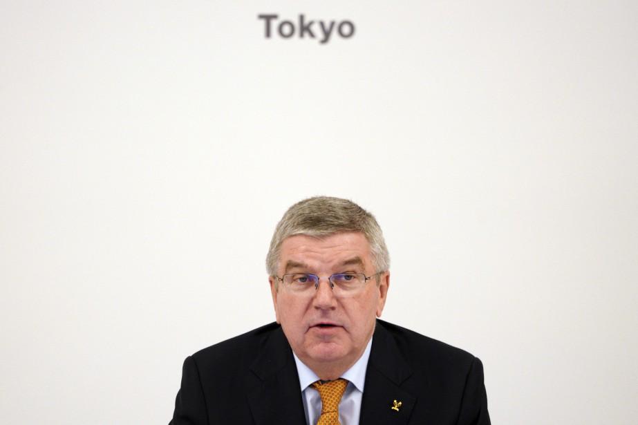 Le président du CIO, ThomasBach... (Photo Eugene Hoshiko, AP)