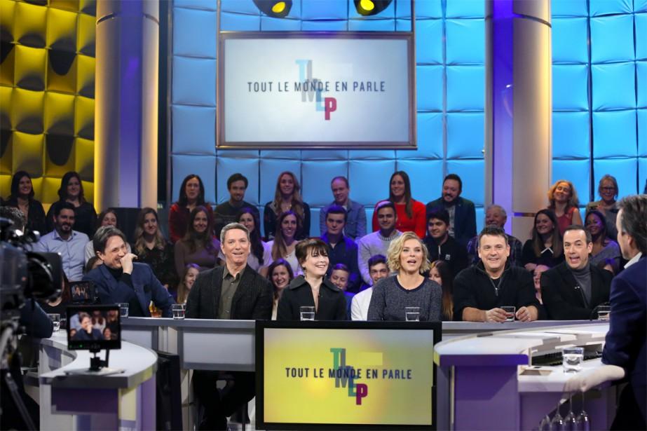 L'équipe du Bye bye 2018... (Photo Karine Dufour, fournie par Ici Radio-Canada Télé)