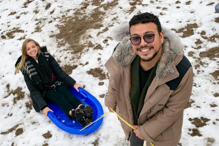 Ludivine Reding et Medhi Bousaidan... (Photo David Boily, La Presse)