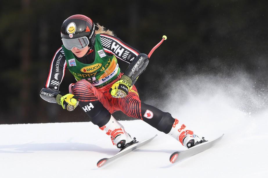 Valerie Grenier a terminé cinquième du super-G de... (Photo Mark Ralston, Agence France-Presse)