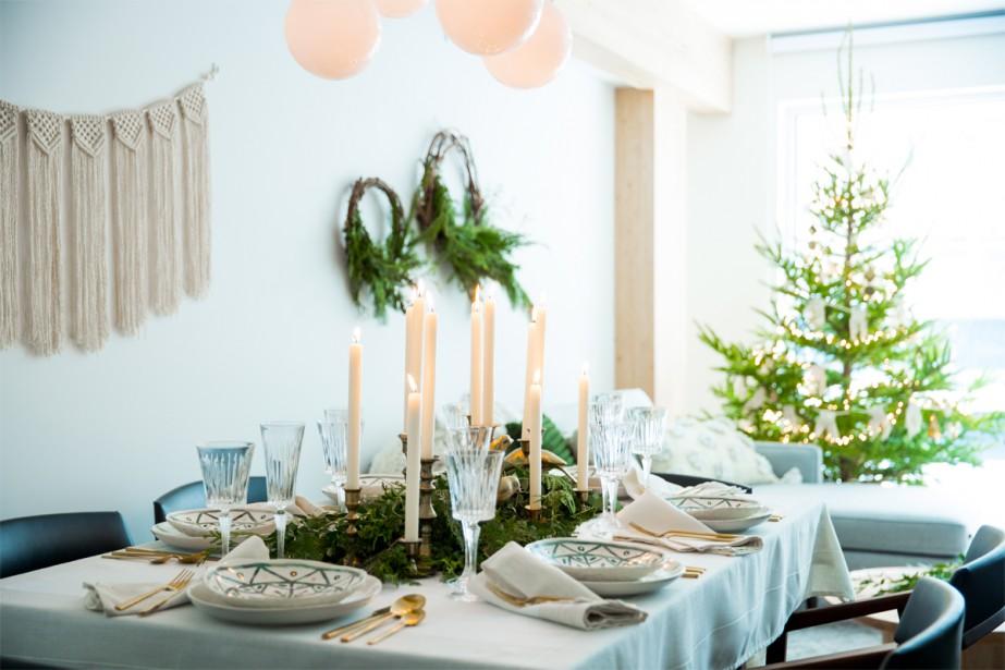 Pour créer son décor festif, la designer d'intérieur... (PHOTO MARCO CAMPANOZZI, LA PRESSE)