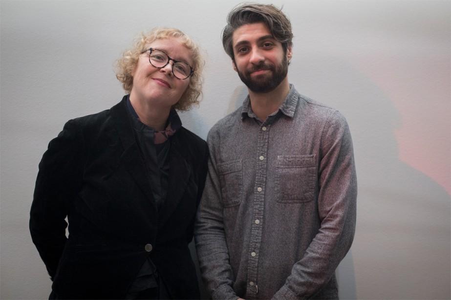 Les artistes visuels montréalais Cynthia Girard-Renard et Adam... (Photo Olivier Jean, La Presse)