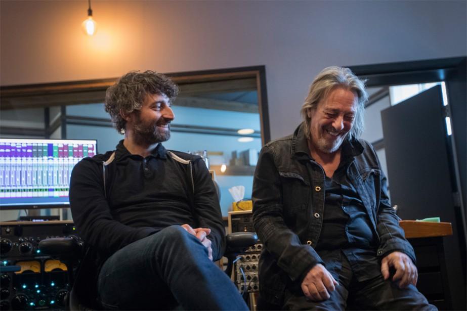 Serge Fiori et Louis-Jean Cormier... (Photo Ivanoh Demers, La Presse)