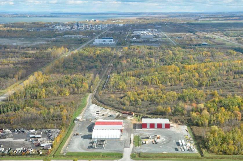 Le site projeté de l'usine d'urée de Bécancour.... (Photo Émilie O'Connor, archives Le Nouvelliste)