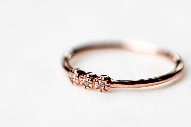Bague La triplette-rose, Horace Jewelry, 35$, offerte en...