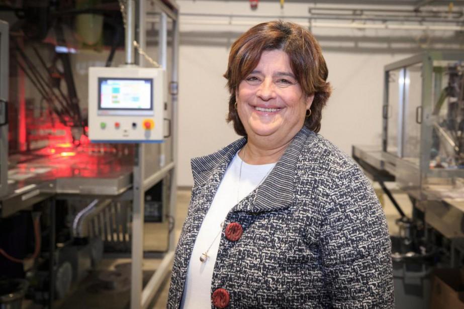 Danielle Lafond, présidente de Labplas, a intégré des... (Photo Olivier PontBriand, La Presse)