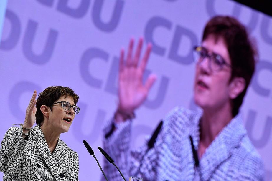 L'actuelle numéro deux du parti démocrate-chrétien allemand, Annegret... (Photo JOHN MACDOUGALL, Agence France-Presse)