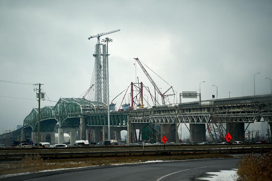 Les deux ponts Champlain.... (Photo André Pichette, La Presse)